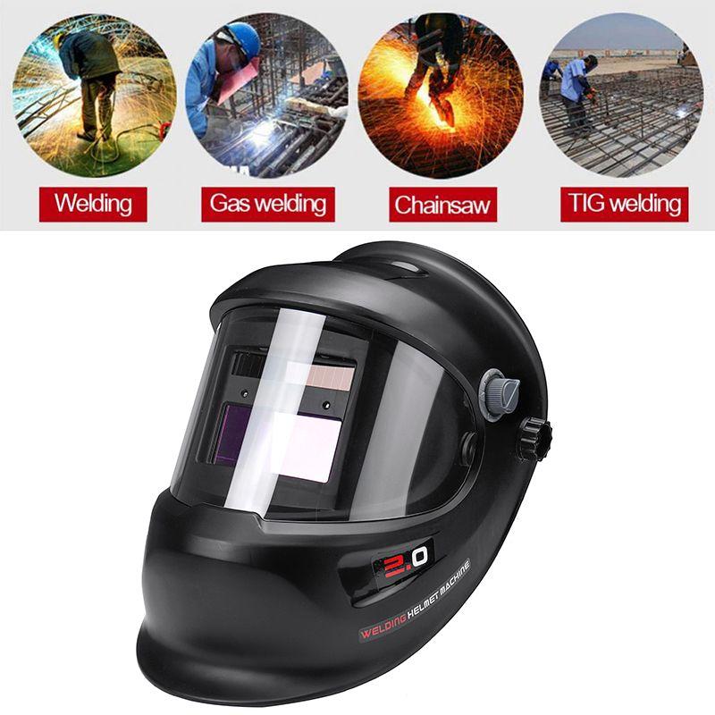 Máscara de Soldadura Big View con oscurecimiento automatico Solar, TIG MIG MMA
