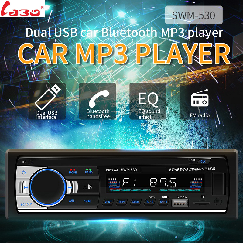 LaBo <font><b>Bluetooth</b></font> <font><b>Autoradio</b></font> <font><b>Car</b></font> Stereo <font><b>Radio</b></font> FM Aux Input Receiver <font><b>SD</b></font> USB SWM-530 12V In-dash <font><b>1</b></font> <font><b>din</b></font> <font><b>Car</b></font> <font><b>MP3</b></font> Multimedia <font><b>Player</b></font> image