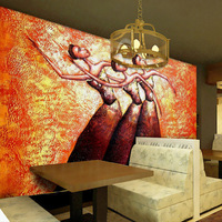 Custom Mural Wallpaper For Walls African People Oil Painting Abstract Art Hotel Living Room Sofa Bedroom
