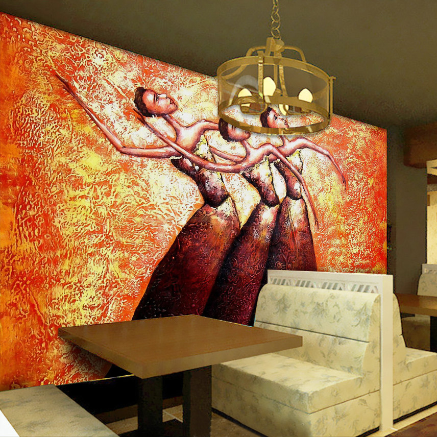 Custom Mural Wallpaper For Walls African People Oil Painting Abstract Art Hotel Living Room Sofa Bedroom Wall Papers Home Decor custom baby wallpaper snow white and the seven dwarfs bedroom for the children s room mural backdrop stereoscopic 3d