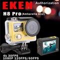 Ultra HD 4 K/30fps 1080 P/120fps Ambarella A12 ir Câmera de Ação Esporte eken h8 pro gopro estilo com controle remoto tela dupla ação cam