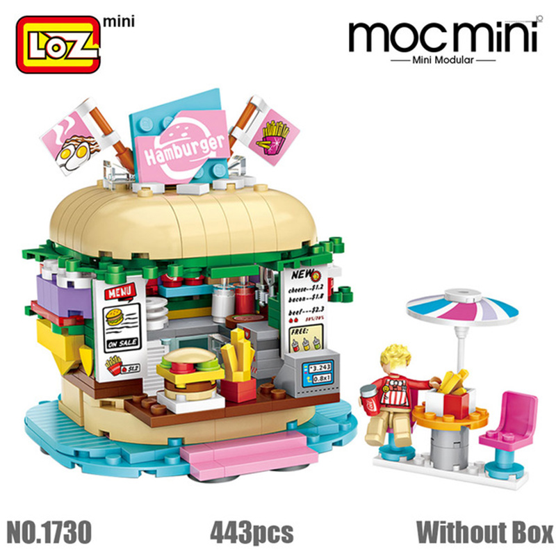 LOZ Mini building Blocks amusement park mini architecture sets bricks model Assembly building Educational DIY kits kids toys in Blocks from Toys Hobbies