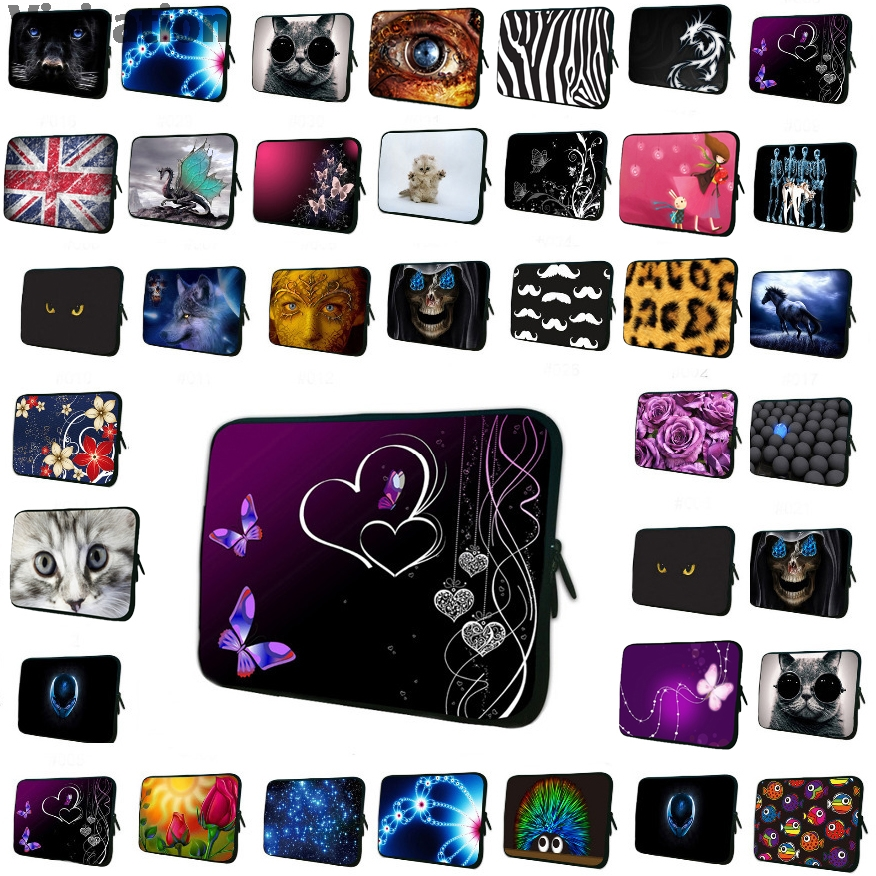 """2015 17"""" 15"""" 15.6"""" 13.3"""" 13"""" 12"""" 11.6"""" 10"""" 9.7"""" 7"""" 14"""" Neoprene Laptop Tablet Netbook Sleeve Bag Cover Funda Bolsas Cases Pouch-in Laptop Bags & Cases from Computer & Office"""
