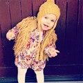Девочка пальто и куртки Зима жилет KIKIKIDS Младенческой Верхней Одежды малыш Девушка Бренд Топы МАКА ДЕТИ Шуба Дети свитер кардиган