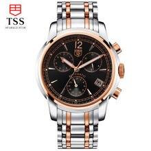 Tss мужские механические Наручные Часы Световой Известная Марка Мужчины Бизнес Часы Водонепроницаемые Часы Дата Часы Из Нержавеющей Стали смотреть