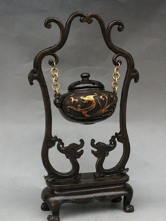 10 Chinese Palace Pure Bronze Dragon Lion Foo Dog Statue Incense burner Censer 10 Chinese Palace Pure Bronze Dragon Lion Foo Dog Statue Incense burner Censer