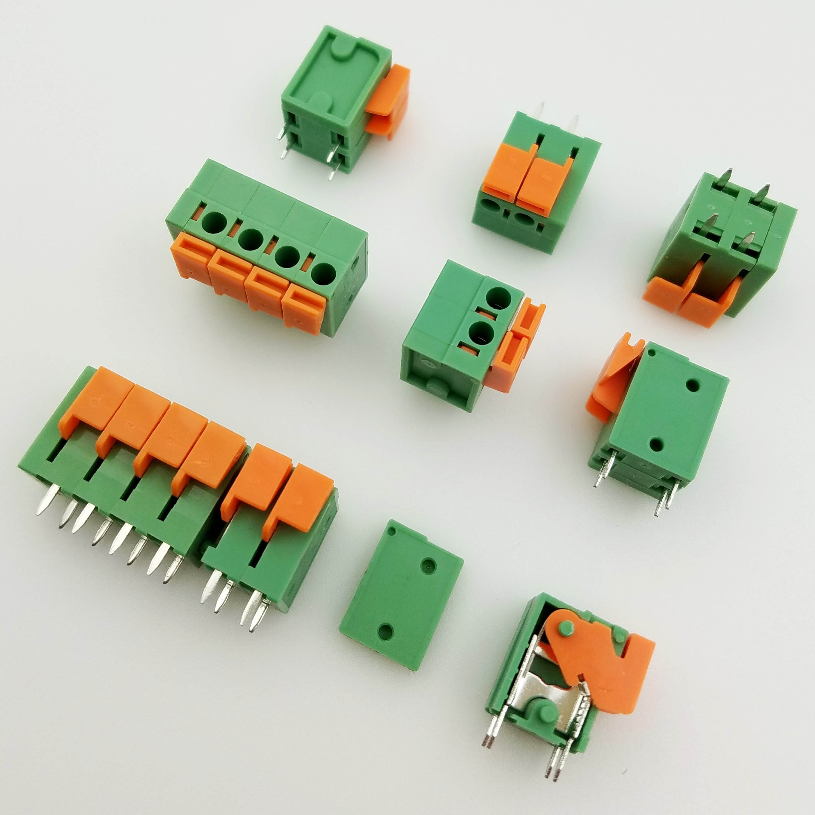 100pcs KF142V 5.08mm PCB Spring Terminal Block KF128-5.08 2P 3P 4P 5P 6P 7p 8p 9p 10p Terminals Connector PCB Mounted Screw baldinini de nuit
