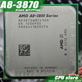 Free shipping  AMD A8 3870K Quad-Core FM1 3.0GHz 4MB 100W CPU processor pieces A8-3870 APU 3870 Integrated graphics, sell 3850