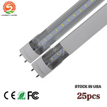 CNSUNWAY 4ft Led Tube Lights Warm Cold White Led Fluorescent Bulbs AC110-265V 4 ft 120cm Led Tubes Lights US Stock NO TAX(China)