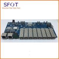 3 шт./лот, аксессуары коммутатор, 8 Порты и разъёмы Gigaibt SFP Порты и разъёмы, с 2 Порты и разъёмы 10/100/1000 M RJ45 Ethernet Порты, используемый для FTTH