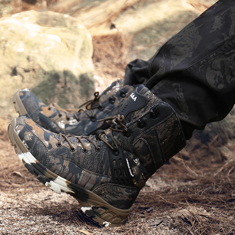 Cungel homens botas de caminhada à prova