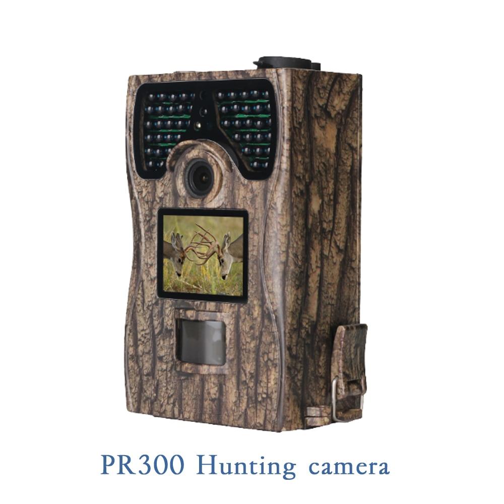1 PCS Outdoor waterproof camera Full HD 1080P Hunting Trail Camera PR-300 2.0 LCD display CMOS Lens Night version surveilance eoscn a8 hd waterproof 2 3 cmos 5 0mp sports camera w 1 5 ltps lcd 900mah battery black