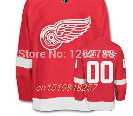 Customize Detroit Red Wings Jersey Hockey Embroidery Logo Personalize sewn  on your Name Customized Hockey Jersey 66f622dd468
