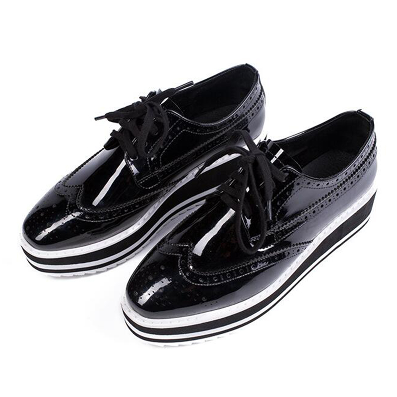 Black / White Leather Creepers. RoseG Women's Leather Flat Double Platform Goth Creepers Shoes. by RoseG. $ $ 39 5 out of 5 stars 3. patent leather. Tonal lace-up closure. T.U.K. Shoes A Unisex-Adult Creepers, Burgundy Rub Off EZC Brogue Shoes. by T.U.K. $ $ 63