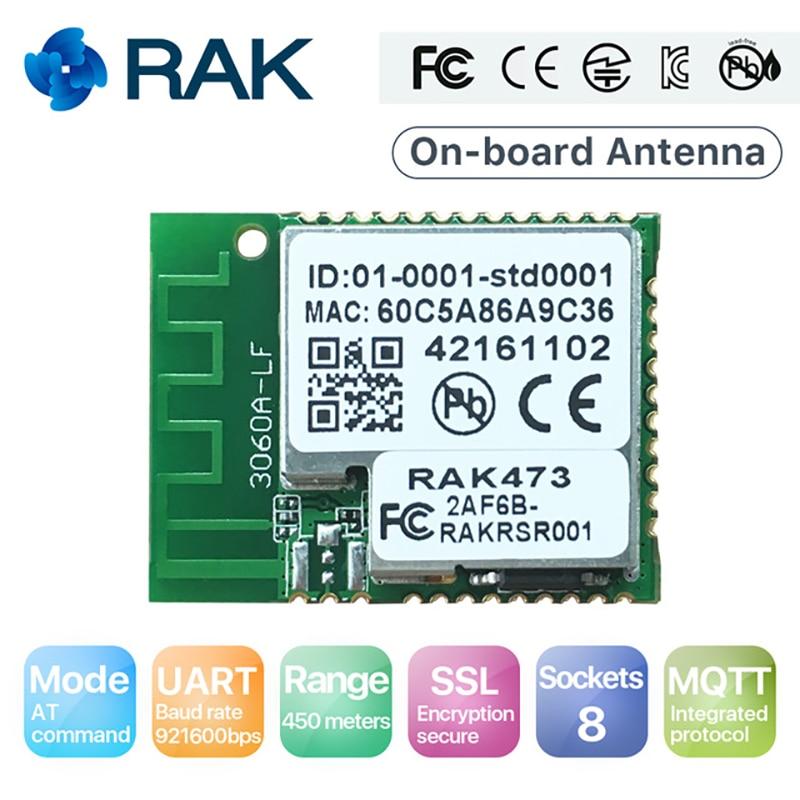 Q117 RAK473 Wireless Low Power Tiny Size IoT UART WiFi Module Tcp Ip Integrated MQTT 450 meters with Onboard Antenna кабель двухжильный arnold rak 18м 364вт