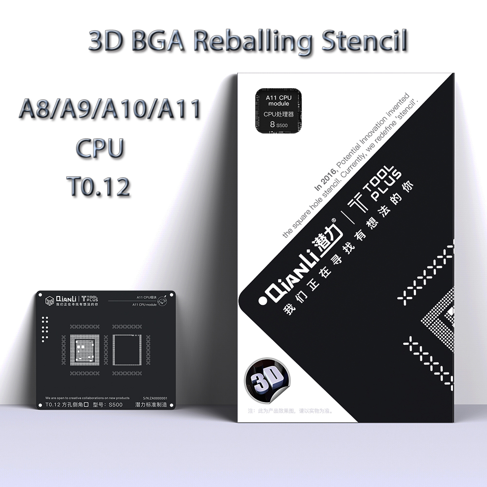 QianLi CPU A8 /A9/10A/A11/a7 3D RAM Reballing Black Stencil Plant Tin Steel Net For iPhone /8 Plus 8 / 7 / 6S / 6s Plus 6 /5sQianLi CPU A8 /A9/10A/A11/a7 3D RAM Reballing Black Stencil Plant Tin Steel Net For iPhone /8 Plus 8 / 7 / 6S / 6s Plus 6 /5s