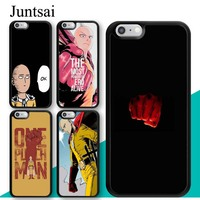 Juntsai Saitama One Punch Man TPU Mobile Phone Case For Apple iPhone X XR XS MAX 6S 6 7 8 Plus 5S SE Cover Rubber Coque Shell