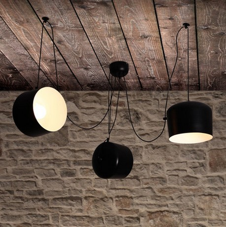 Simple Loft Style Iron Droplight Modern LED Pendant Light Fixtures For Living Dining Room Hanging Lamp Indoor Lighting iwhd loft style simple iron led pendant light fixtures creative modern hanging lamp dining room droplight indoor lighting