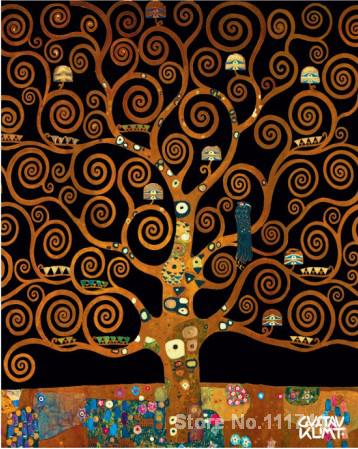 Under The Tree Of Life Gustav Klimt Gold Paintings Living Room Decor Handmade High Quality In Painting Calligraphy From Home Garden On Aliexpress