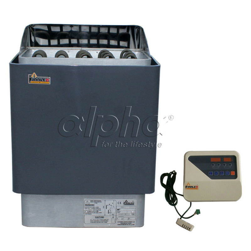 Free shipping 4.5KW220-240V 50HZ  sauna heater with DIGITAL controller comply with the CE standard,1 YEAR guarantee