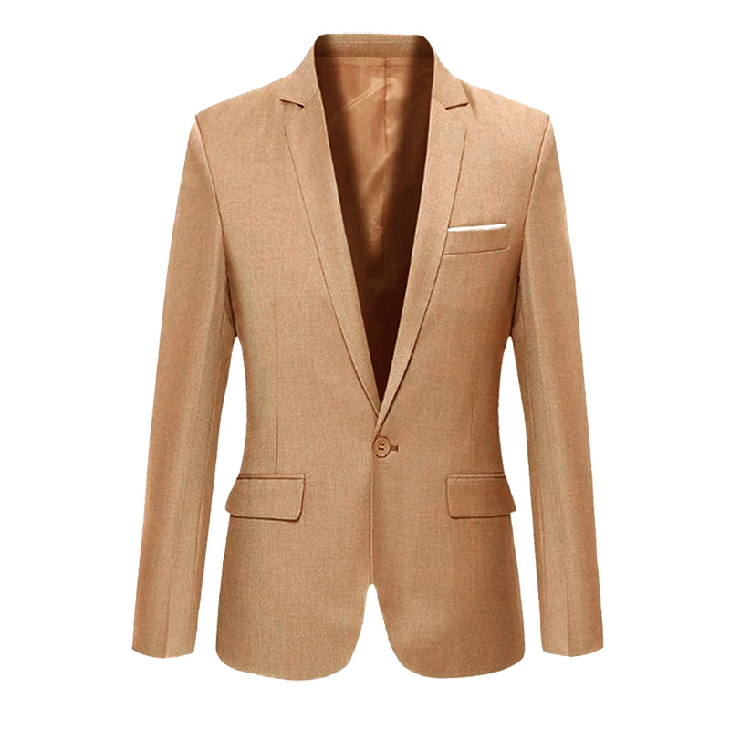 Fashion Spring Autumn Men Blazer Long Sleeve Solid Color Slim Casual Thin Suit Jacket Plus Size HSJ88