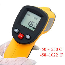 On sale GM550 Digital Non-Contact -50 To 550 degree LCD IR Laser Infrared Thermometer Themperature Measurement Electronic Point Gun