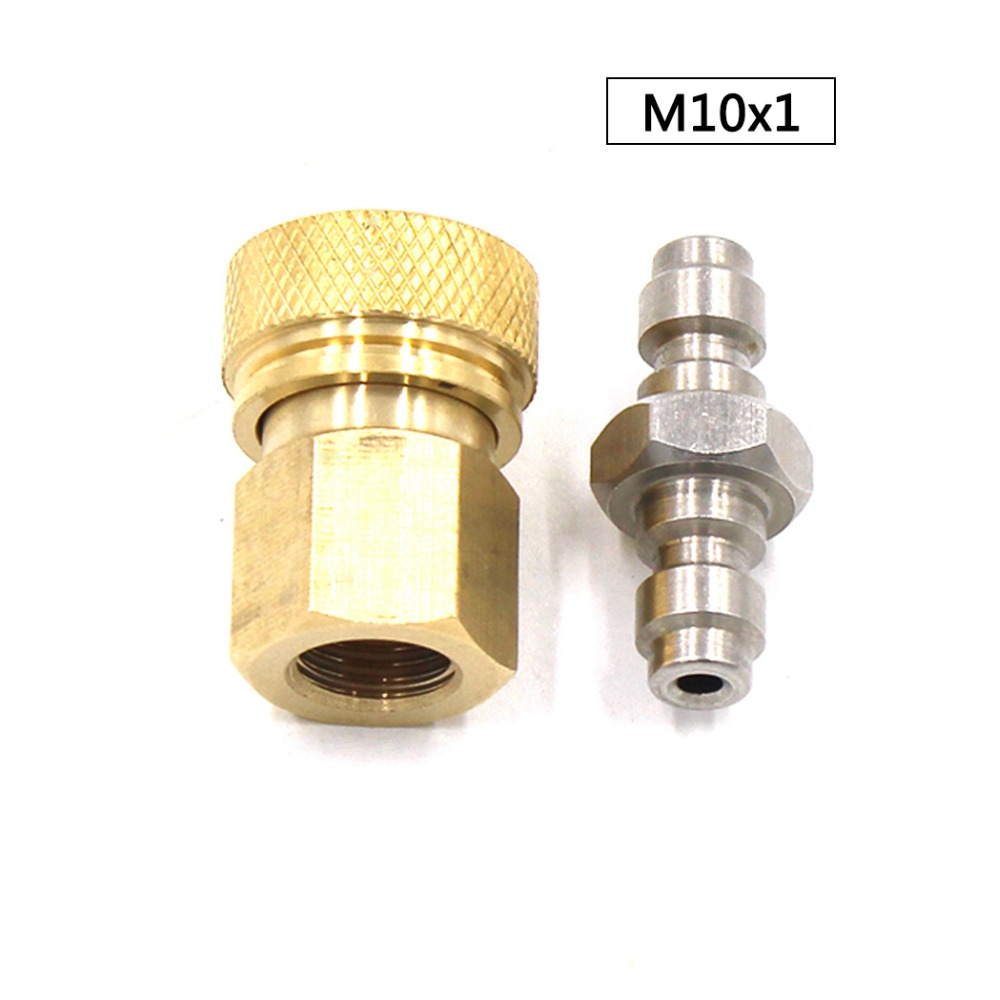 PCP Airforce Paintball Pneumatic M10x1 Thickened Copper Quick Disconnect And 8mm Double End Male Plug Coupler Sockets 2pcs/set