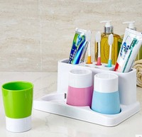Creative family of three toothbrush holder suit Fashion simple cup holder bathroom home with Cups