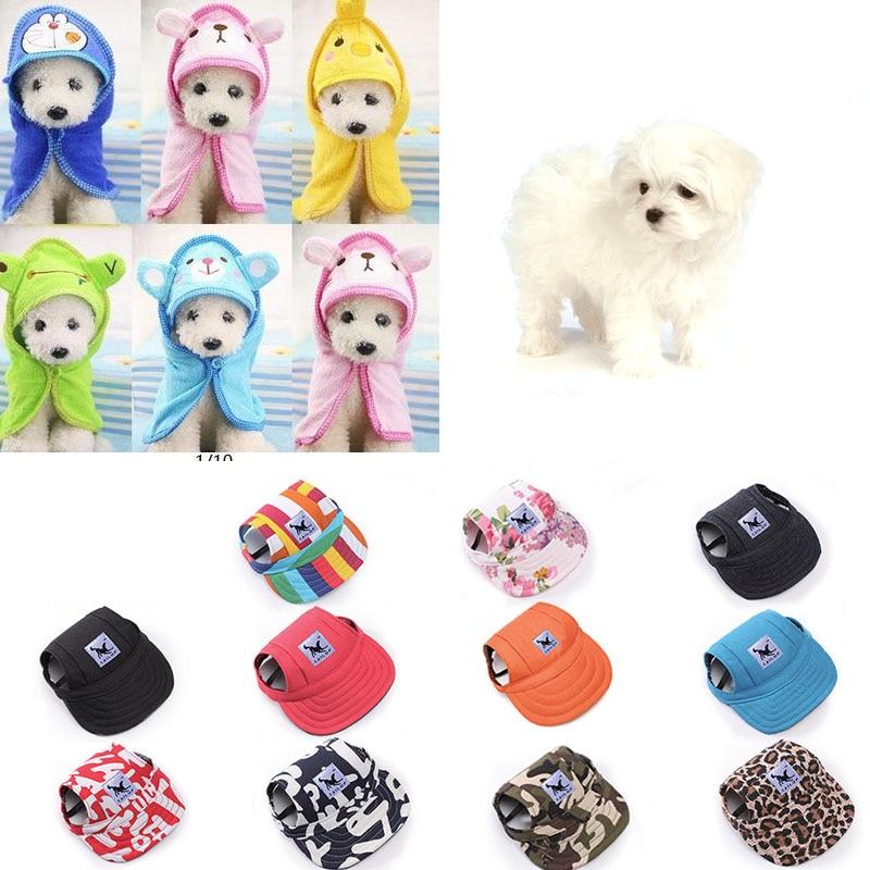 569a58710de Pet Dog Caps Summer Canvas Baseball Caps Pet Dog Clothes Collocation  Accessories Outside Walking Dog Sunhats Supplies 12 Styles