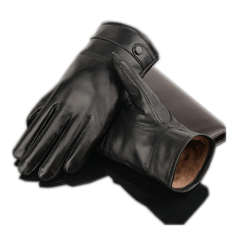 2019 Leather Gloves,Genuine Leather,Black,brown Color,leather Gloves Men ,leather Winter Gloves Warm,brand Mittens