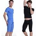 1 Компл. мужские сексуальные кальсоны прозрачный лед шелковые Кальсоны Мужчины пижамы Пижамы Средние Брюки с коротким рукавом