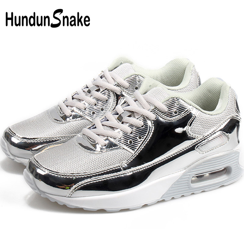 Hundunsnake Big Size Women Running Shoes Air Cushion Sneakers Men Women Mesh Calzado Mujer Summer Trainers Krasovki Silver G-25 Demand Exceeding Supply Sports & Entertainment
