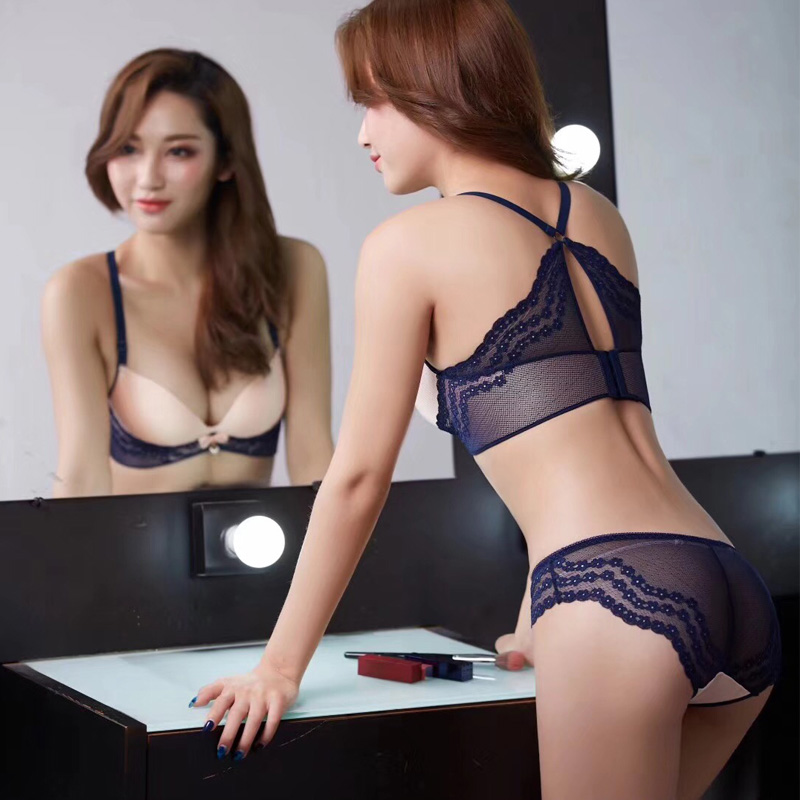 Buy Brand Underwear Women Bras B cup Lingerie set Sexy Lace Bra Brief  Sets Bowknot Bras Adjustable push bra bralette