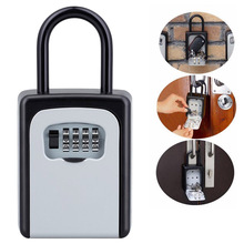 1pc Mini 4 Digits Number Password Code Lock Combination Padlock Pad Lock Resettable for Travelling Bag Door 9cmx4cmx17.8cm home use lovely mini resettable combination padlock heart lock for suitcase luggage bags 3 digits