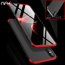 Ultra Thin Plastic Shockproof Protection 360 Case For iPhone X Black Slim Bumpe On Housing For iPhone 10 X Matte Hard Back Cover kwen yy 1 ultra slim matte plastic back case for iphone 5 5s light golden