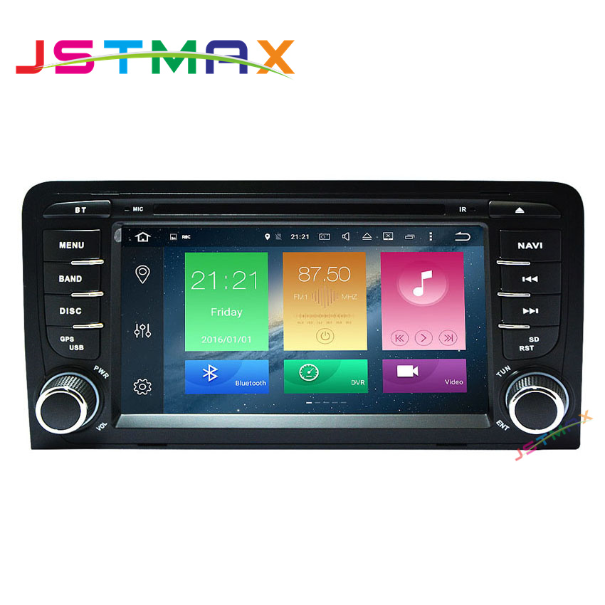 Wholesale! Android 6.0 7 Inch Car DVD Player For Audi A3 S3 RS3 2002-2013 With Canbus Wifi GPS OBD USB DVR BT Radio Free Map