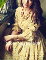 Платье винтажный половина, рукав прорезиненная тесьма весна листья длинная шифон средневековый ренессанс принцесса костюм викторианской /