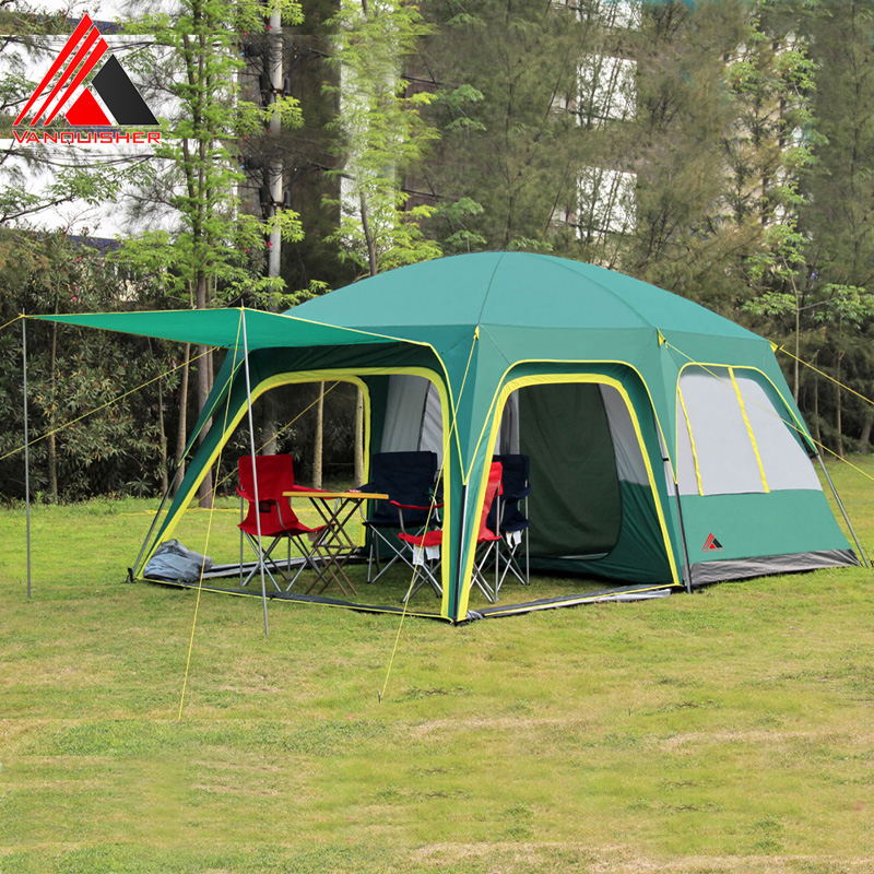Vanquisher 2rooms 1hall 6 12 people large outdoor font b camping b font travel family tent