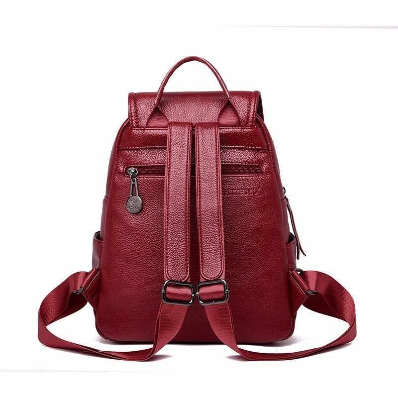 2019 женские кожаные рюкзаки высокого качества, женские дорожные сумки, женские рюкзаки, школьные рюкзаки для девочек, консервативный однотонный рюкзак, Новинка