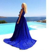 Woman long dress bridesmaid ceremony party dance ball gown party vestito  beach dresses 42319e41648c