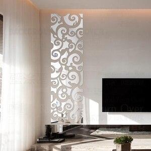 Image 1 - Espejo decorativo 3D con diseño creativo de nubes, pegatinas de pared, decoración de pared de TV, sala de estar y dormitorio, arte para el hogar R123