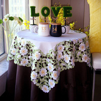European Style Garden Simple High Grade Fabric Embroidered Tablecloths Coffee Table Towel Table Runner Cover Towel