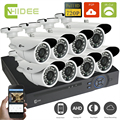 CNHIDEE 8ch AHD 720p High Quality DVR System 1200TVL Indoor/Outdoor Camera System 1080N HDMI for Home Video Surveillance Kits -