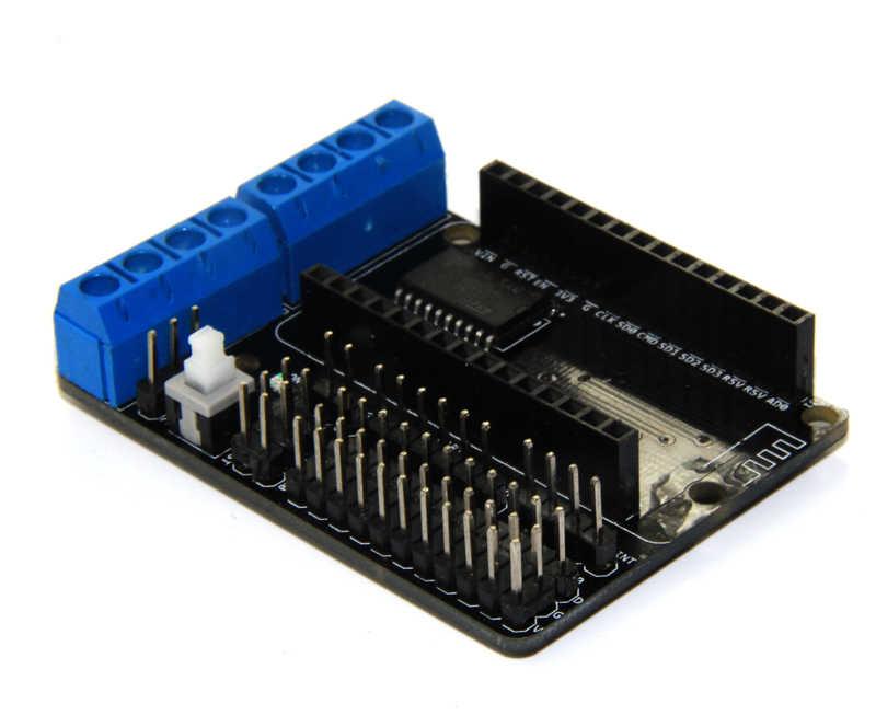NodeMCU มอเตอร์โล่บอร์ด L293D สำหรับ ESP-12E จาก ESP8266 esp 12E ชุด diy rc ของเล่น wifi rc smart รถควบคุม