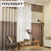 Cotton and linen custom curtain sitting room bedroom flat window shading curtain finished product contracted and contemporary