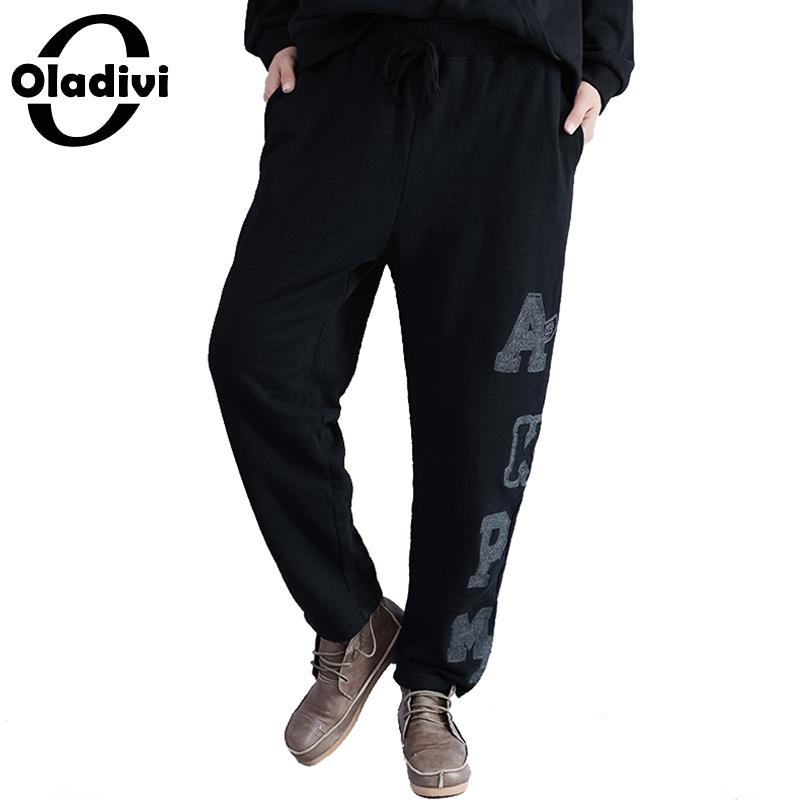 Oladivi Brand Women Plus Size Clothing Ladies Casual Loose Pockets   Pant   Trousers Loose   Capris   Pantalone Harem   Pants   2018 New 3XL