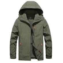 Winter Male Fleece Warm Hooded Military Jacket Coat Men Windbreaker Big Size M-4XL