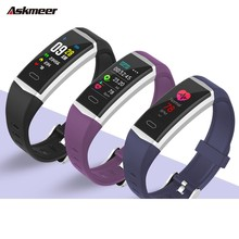 лучшая цена ASKMEER B5 Smart Band Heart Rate Tracker Fitness Tracker Smart Bracelet Men Smart Wristband sport Smart Watch IP68 Waterproof