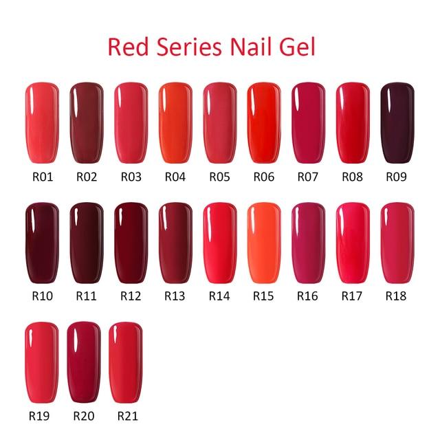 Clou Beaute Red Colors Nail Gel Polish Soak Off Gels Lacquer