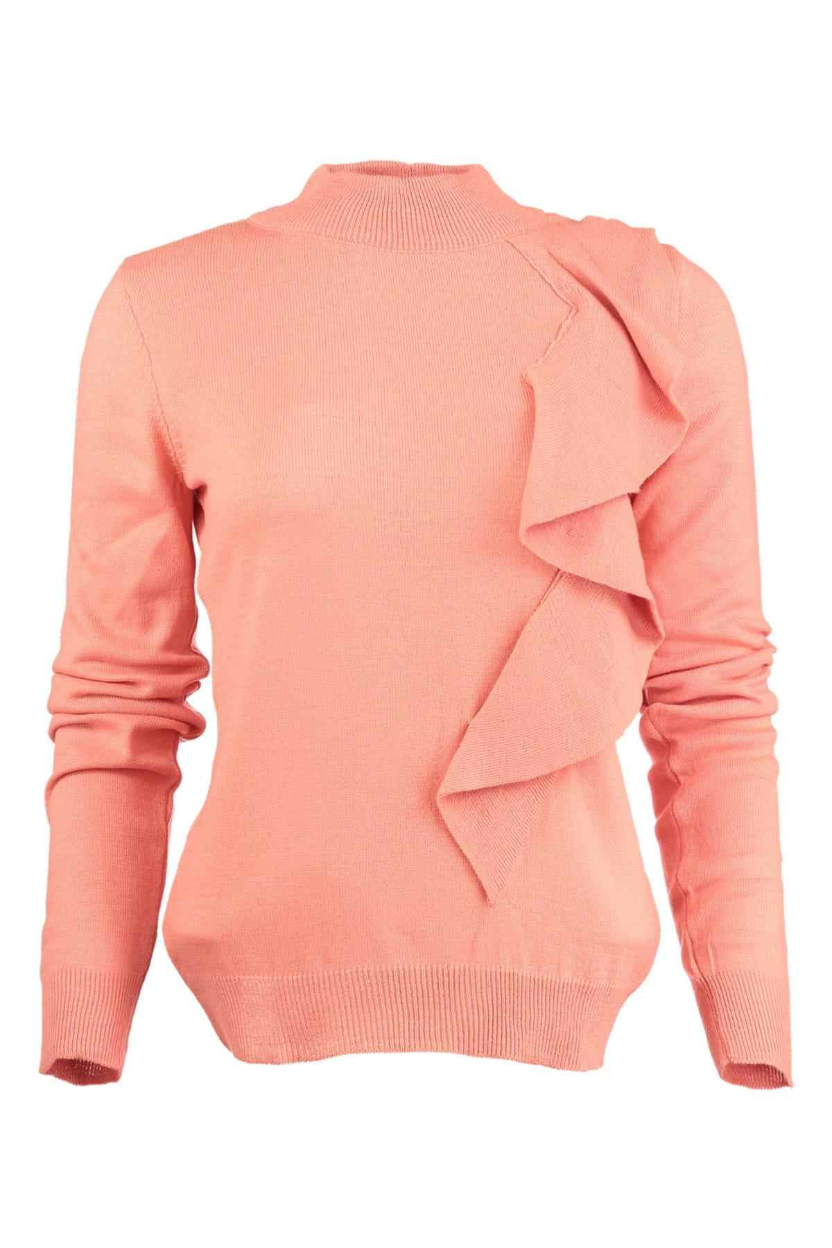 Trendyol WOMEN-Peach Flounces Knitwear Sweater TWOAW20DU0017